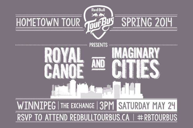 RSVP and learn more about Royal Canoe and Imaginary Cities who play in Winnipeg on May 24th, 2014.