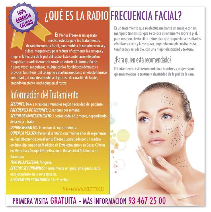 ¡CONSIGUE UNA PIEL LUMINOSA, CUIDADA Y MÁS JOVEN! ¿Qué es la Radiofrecuencia Facial? http://www.iccestetico.es/estetica-facial/radiofrecuencia-facial/