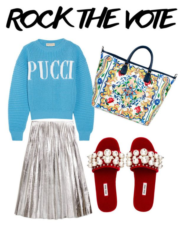 """RTV"" by ralugoii on Polyvore featuring Emilio Pucci, Gucci, Miu Miu and Dolce&Gabbana"