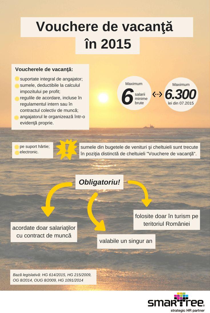 #Infografic #HR Voucherele de vacanta in 2015 #Smartree