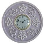 Tropical Hibiscus Round Wall Clock in Multiple Colors