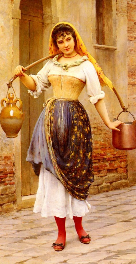 Work by Eugene de Blaas. #classic #art #painting