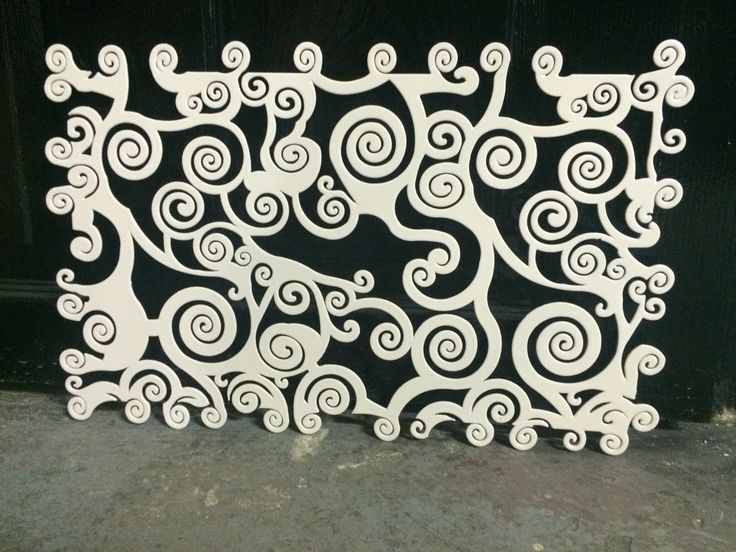 Metal laser cut vent screen..Look great to cover the cold air vent