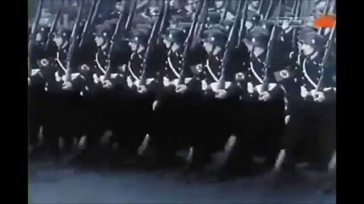Horst-Wessel-Lied - Wehrmacht Marching to Anthem of Nazi Germany