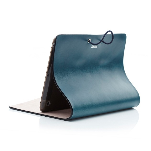 ide-home Store - Evouni Leather Arc Cover for iPad mini - Blue