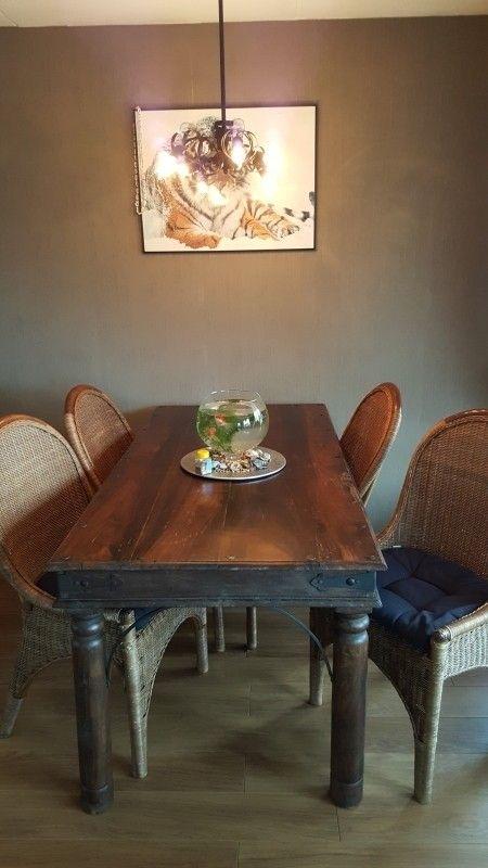 antieke eettafel + stoelen  aangeboden in Antieke Meubels en Antiek & Kunst op Koopplein.nl Langedijk, de gratis marktplaats