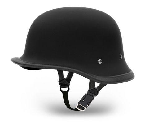 Flat Black BIG GERMAN Daytona NOVELTY Motorcycle Half Helmet LOW PROFILE 1005B (NOT D.O.T. Approved)    $45.95 FREE Shipping