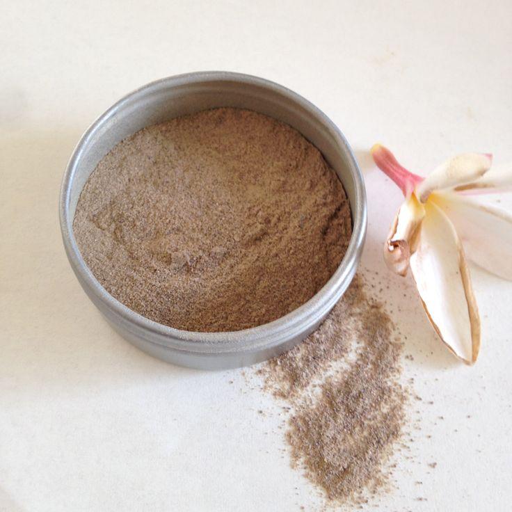 Cocoa Tan foundation powder. plant makeup. all over light coverage. medium to dark skin tone. handmade, organic, vegan foundation powder. by WildVeil on Etsy