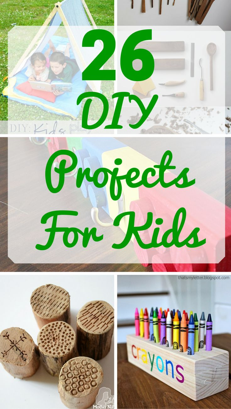 26 DIY woodworking projects for kids - Parents and kids can work together on these fun DIY woodworking projects. Many require just a couple of tools!