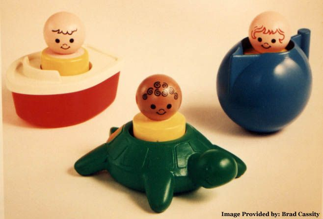 Fisher Price Floating Family ~ I remember the boat and turtle and the little people. These were bath-time toys.