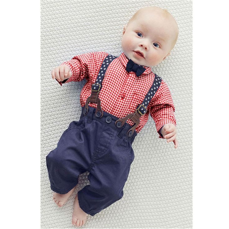 >> Click to Buy << Formal Clothing Sets For Newborn Baby Boy Birthday Party Clothes Toddler Outerwear Sport Suit Infant Baby Plaid T-shirt+Pant Set #Affiliate