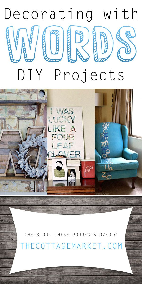 Decorating with Words DIY Projects - The Cottage Market #DecoratingWithWords, #DecoratingWithLetters, #DecoratingWithMonograms, #DIYDecoratingProjects, #DIYDecoratingWithWords