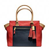 The Coach Legacy Colorblock Leather Candace Medium Carryall