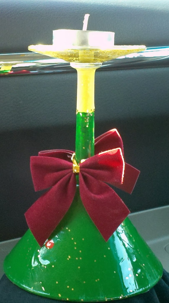 What A Cleaver Idea An Upside Down Painted Martini Glass