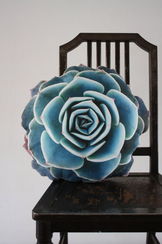 Spring Succulent pillow made to order