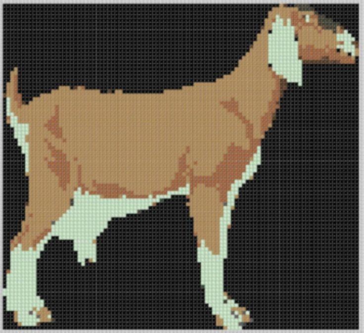 Goat Cross Stitch Pattern   Hand embroidery, Cross stitch ...