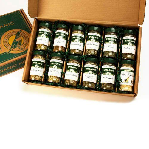 Organic Herbs Gift Box - Large - http://spicegrinder.biz/organic-herbs-gift-box-large/