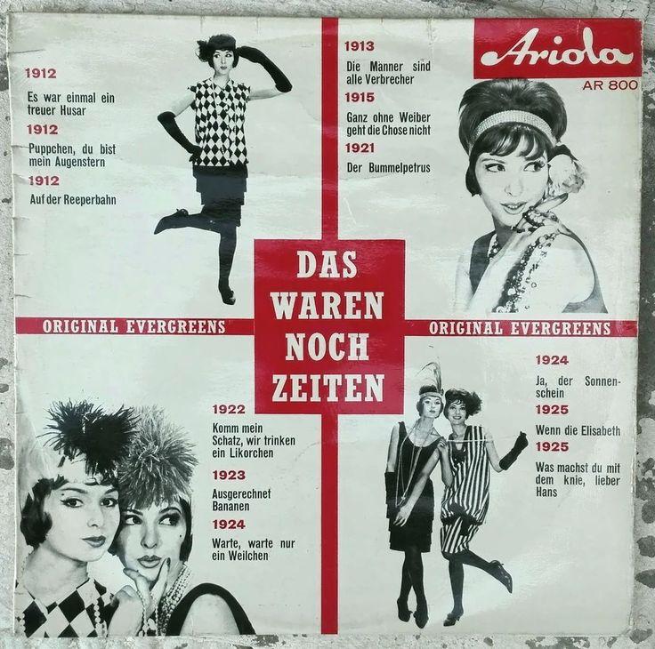 DAS WAREN NOCH ZEITEN. Original Evergreens. Lp record by Ariola AR 800
