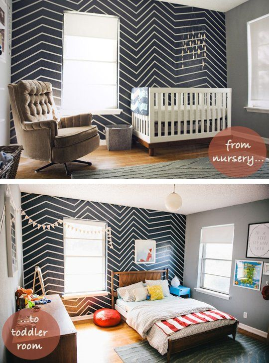 Axel's Room: Subtle & Affordable Changes To Grow Up a Nursery Kids Room Transitions   Apartment Therapy