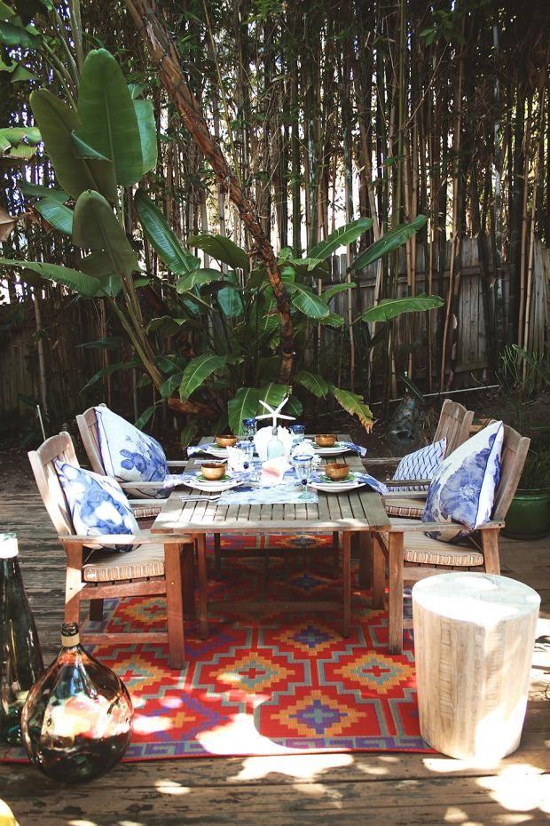 17 Best Ideas About Teppich Für Balkon On Pinterest | Bodenbelag ... Ideen Fur Balkon Deko Boho Chic Personlichkeit