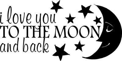 I Love You To The Moon And Back Wall Decals Saying That