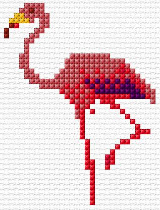 Cross Stitch | Flamingo xstitch Chart | Design