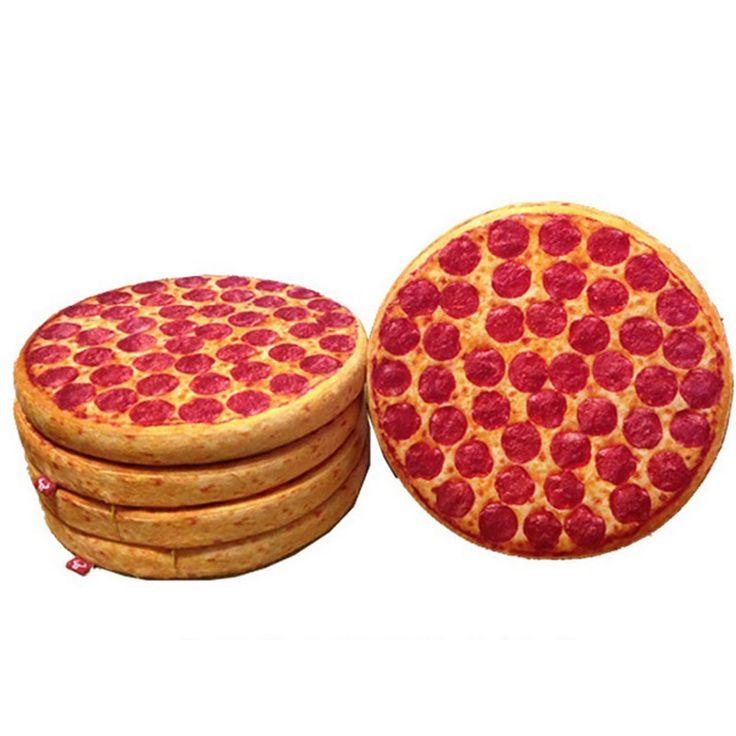 Home Furnishing round biscuits Pizza cushion pillow candy Home Furnishing Christmas decoration decorative pillow bag