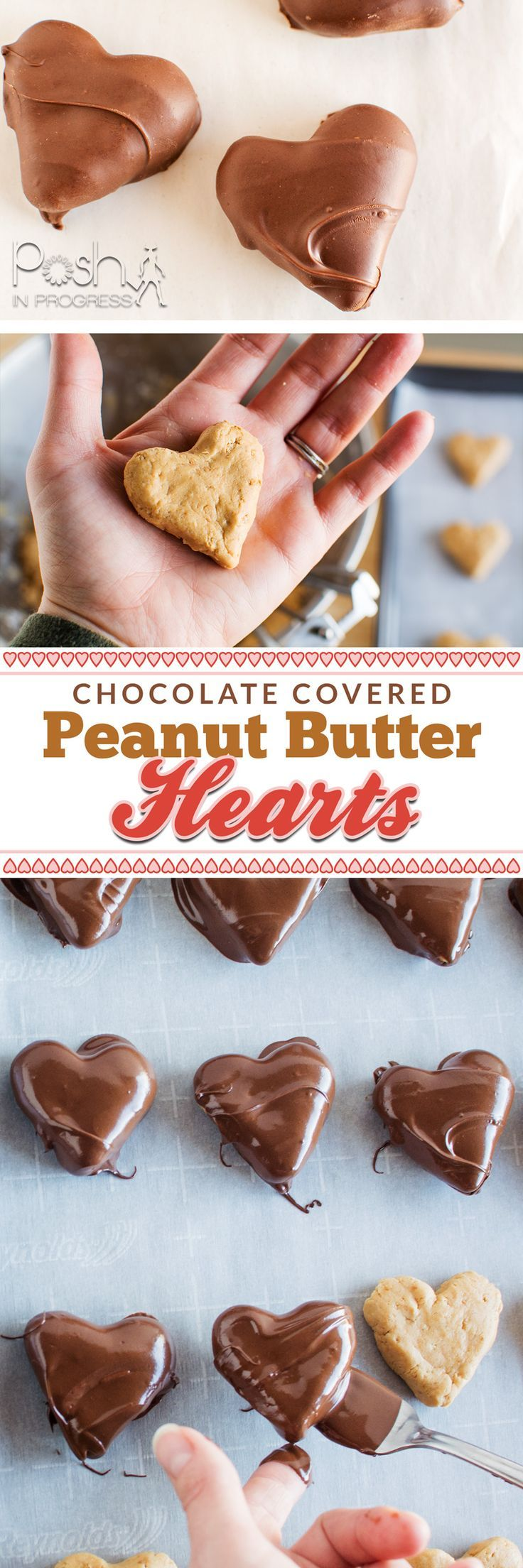 Stacey celebrates National Peanut Butter Day by making chocolate covered peanut butter hearts she created by adapting a peanut butter balls recipe. #nationalpeanutbutterday #peanutbutter #candy #recipe #homemade:
