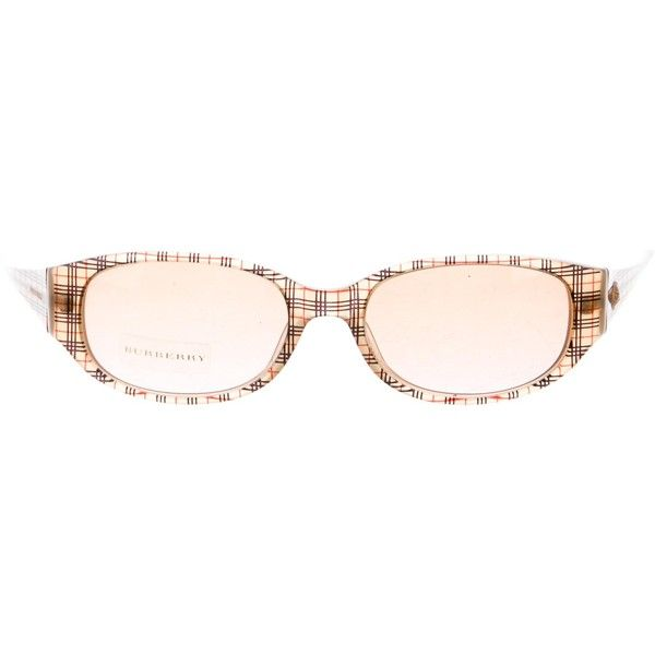 Pre-owned Burberry Nova Check Tinted Sunglasses ($85) ❤ liked on Polyvore featuring accessories, eyewear, sunglasses, neutrals, burberry glasses, burberry sunglasses, tinted sunglasses, tinted glasses and tinted lens sunglasses