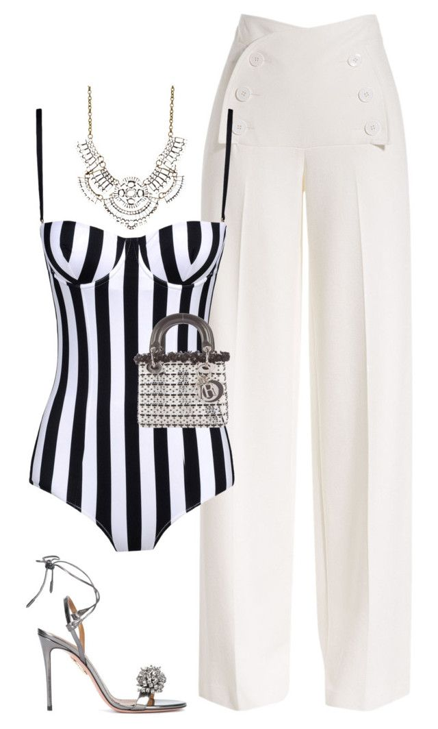 Untitled #1995 by flyyshitonly on Polyvore featuring polyvore fashion style Derek Lam Dolce&Gabbana Aquazzura Christian Dior Charlotte Russe clothing