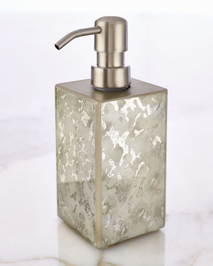 crystal bathroom accessories sets%0A Oatmeal Frost Pump Dispenser