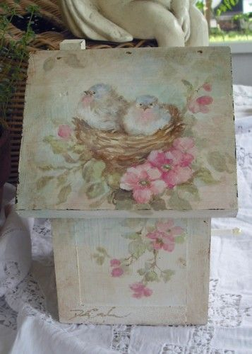 Debi Coules Shabby French Chic Art --this is sooo cute-might put it on other side of wastebasket.