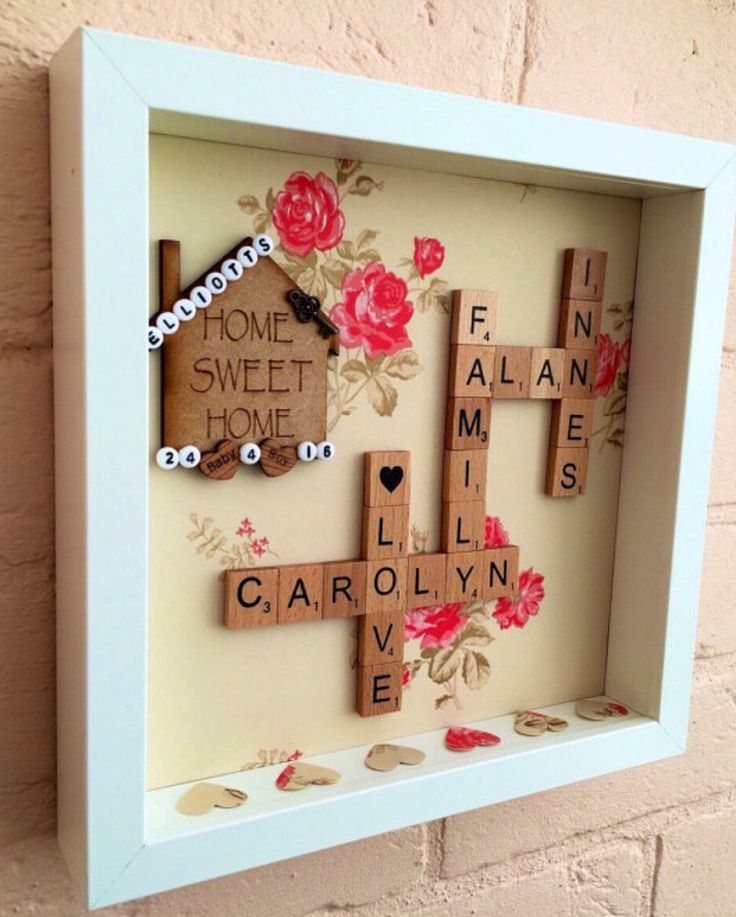 New Home Gift, House Warming Gift, Family Name Frame - https://www.etsy.com/listing/275987480/home-sweet-home-frame-new-home-gift
