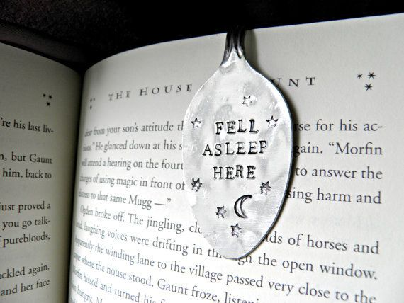 Hand-stamped stainless steel spoon bookmark | 22 Gifts Every Book Lover Needs