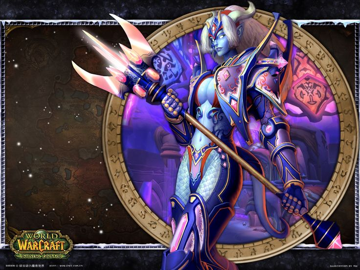 Dual Screen Hd Fantasy Wallpapers Get Your Fix Here: World Of Warcraft, Draenei Wallpaper