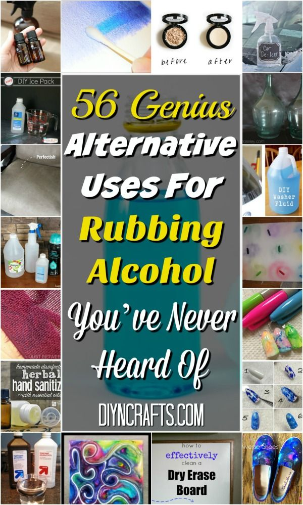 Most of us have rubbing alcohol in our medicine cabinet. But how often do you actually use it? A lot of us only pull out that dusty bottle once in a while to disinfect a wound or clean something. The rest of the time, it languishes in the cabinet. via @vanessacrafting
