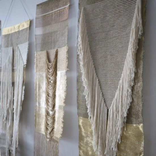 Native Line Wall-Hangings in natural and gold