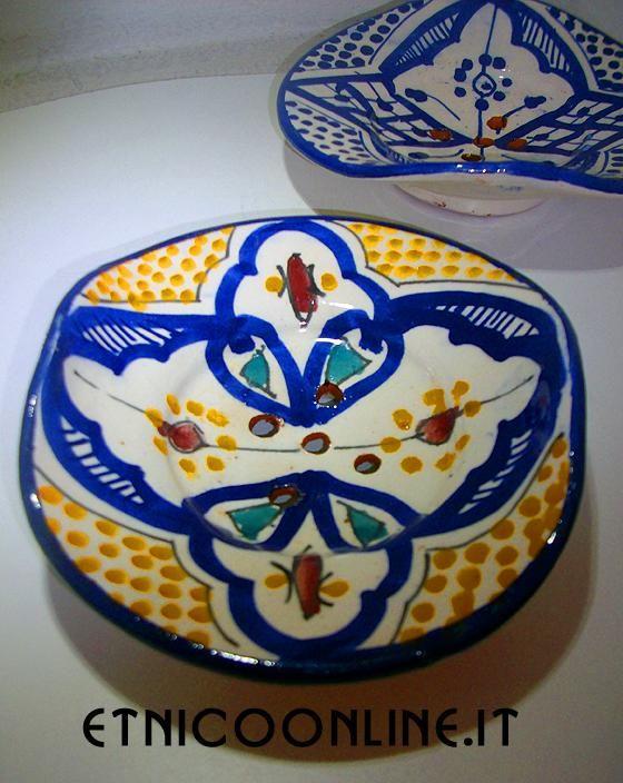 Porta Sapone (Artigianato Marocco, Ceramica, vasi e piatti decorati) di Artigianato Vulcano, eCommerce specializzato nella vendita di articoli etnici, marocchini e orientali.