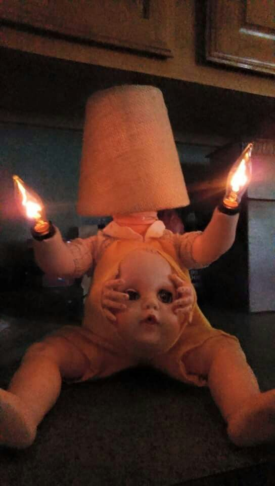 If this lamp is not creepy I don't know what is....
