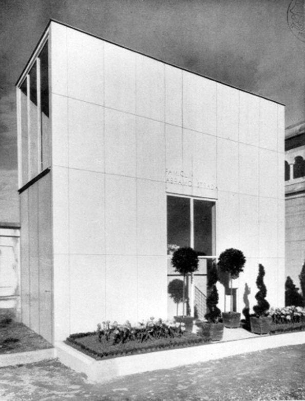 mario asnago e claudio vender - cappella funeraria strada, cimitero di cesano maderno, milano, 1936