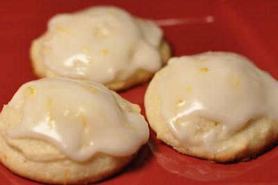 Lemon Ricotta Cookies with Lemon Glaze - heavenly!  ( a Giada De Laurentiis recipe)