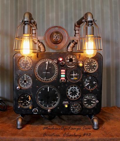 Vintage Industrial Aircraft Airplane Instrument Control Panel Lamp Soviet/Ukraine Antonov #CC43 sold
