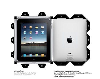 sleek paper model iPad