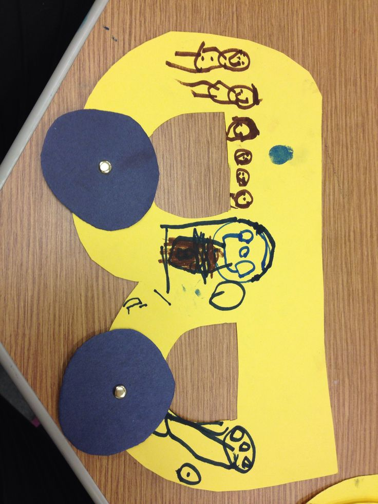 B for Bus. Preschool Language Arts activity. Black History Week Rosa Parks