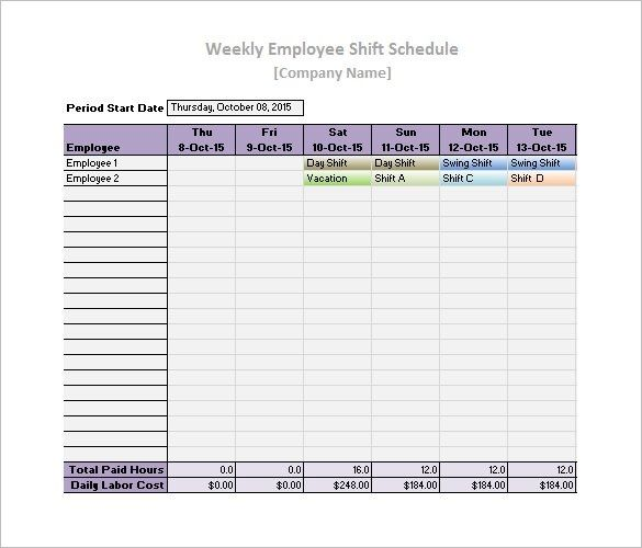 Daily Work Schedule Template 17 Free Word Excel Pdf
