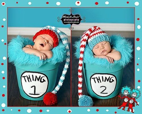 Thing one and Thing two - an outfit for twins
