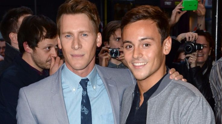 """Tom Daley's fiance has called for more gay sportsmen to """"come out"""" and  publicly speak about their sexuality after the bravery shown by the diver.  Oscar-winning screenwriter  Dustin Lance Black said many young people in the LGBT community were """"afraid"""" to play football due to a lack of openly gay players.  """"It's incredibly brave to come out. I understand that for some people that's difficult.  """"To those who do com..."""