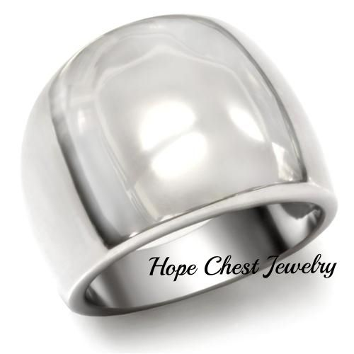Hope Chest Jewelry - 34-SKU WOMEN'S SILVER TONE STAINLESS STEEL DOME STYLE MODERN COCKTAIL RING, $15.49 (http://www.hopechestjewelry.com/34-sku-womens-silver-tone-stainless-steel-dome-style-modern-cocktail-ring/)