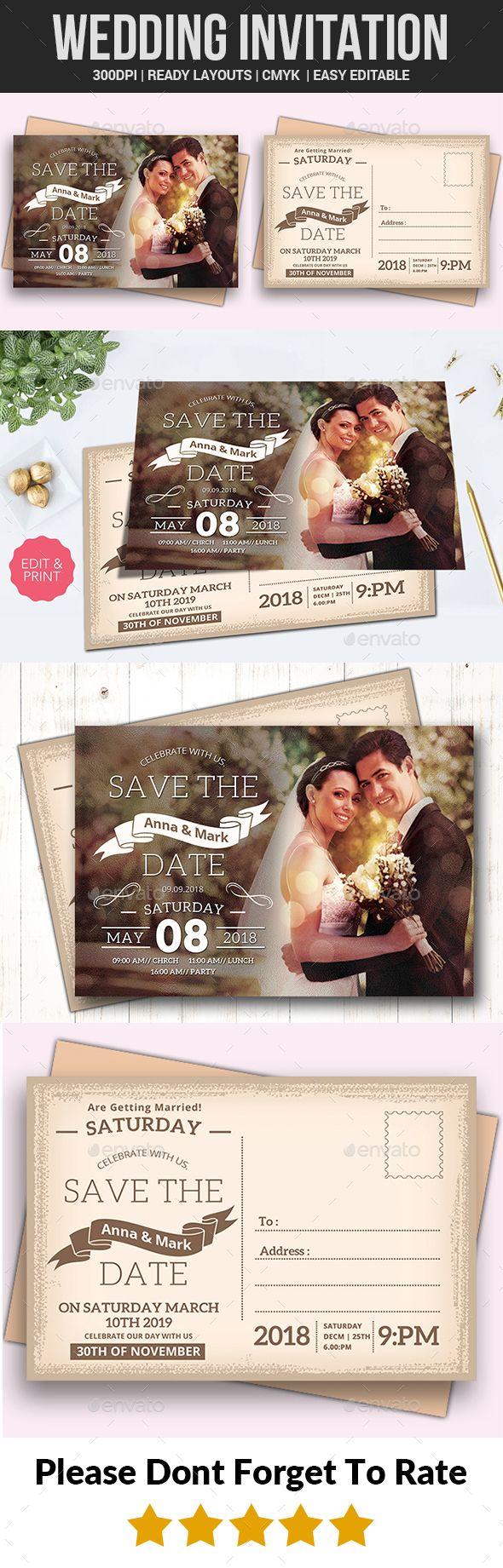 Wedding Invitation Template PSD Download httpsgraphicrivernetitem