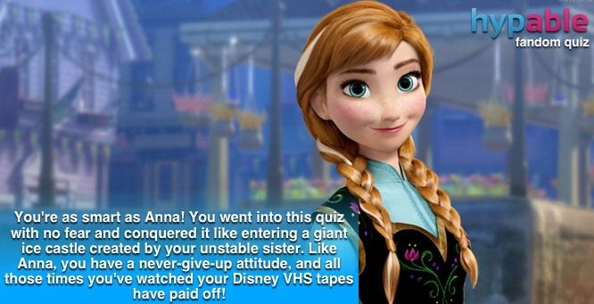 Quiz: Using 90s Disney movie trivia, which 'Frozen' character are you?  I GOT ANNA !!!!!!